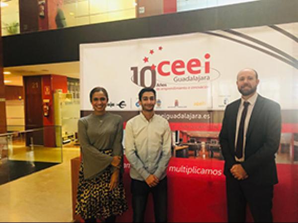 """El CEEI de Guadalajara recibe una nueva visita dentro del proyecto europeo """"The Next Society"""""""
