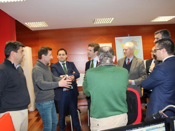 Pablo Casado, presidente del PP, visita el CEEI de Guadalajara