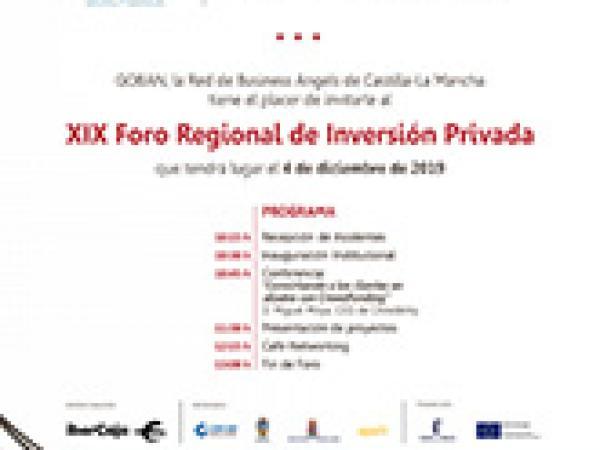 GOBAN CLM celebra el XIX foro regional de inversión el miércoles 4 de diciembre en Guadalajara