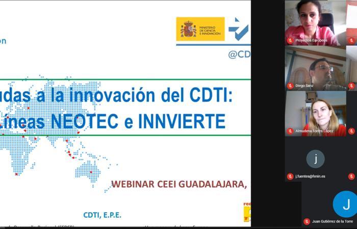 Las líneas Innvierte y Neotec de CDTI protagonizan de un nuevo taller virtual del CEEI Guadalajara ¨