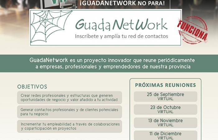 GuadaNetWork ha programado cuatro nuevos encuentros para el último cuatrimestre de 2020, con el objetivo de seguir acercando empresas
