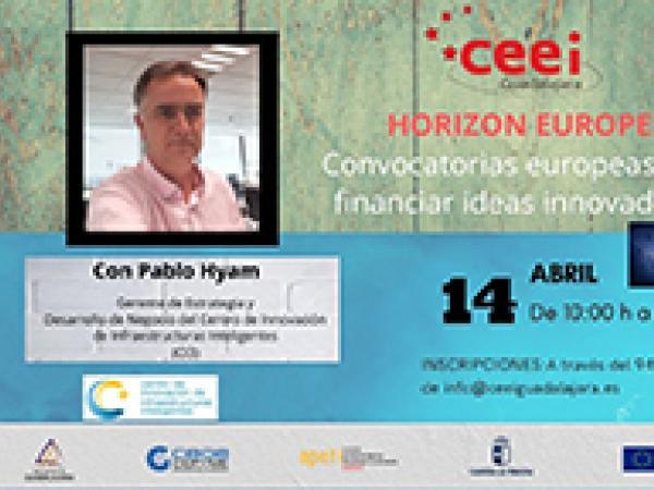 El CEEI Guadalajara desarrollará dos nuevos talleres basados en las convocatorias europeas para financiar ideas innovadoras y las líneas de ayuda de CDTI