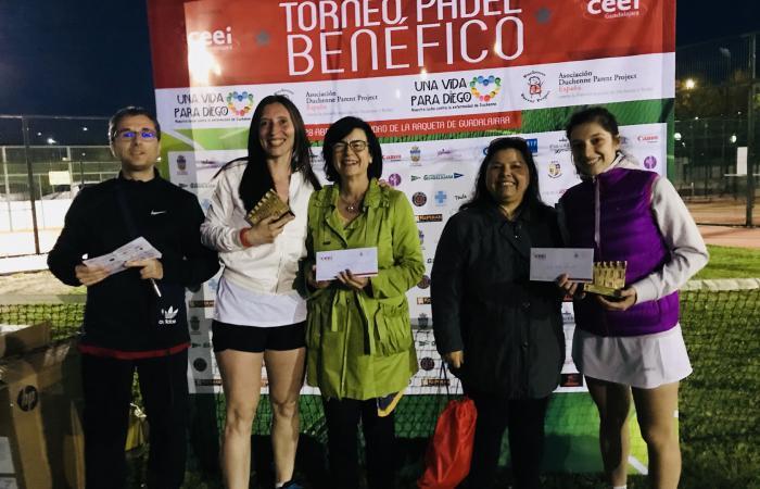 Gran éxito del torneo de pádel benéfico, Una vida para Diego, organizado por el CEEI de Guadalajara a favor de la Asociación Duchenne Parent Proyect España¨