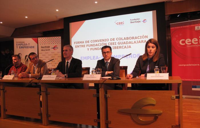 La fundación Ibercaja renueva su colaboración con la Fundación CEEI Guadalajara para desarrollar el Programa Emplea-T y Emprende¨