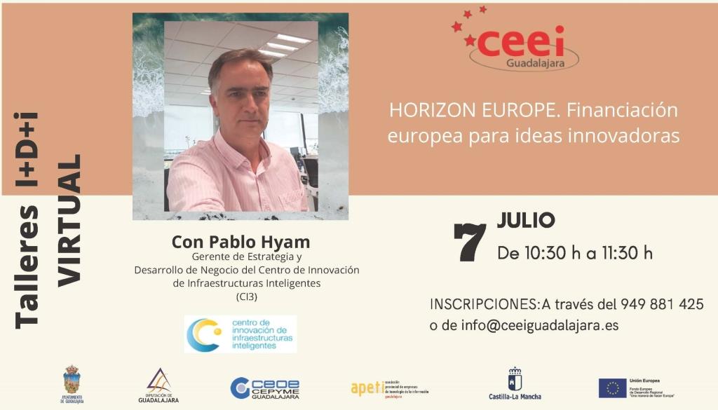Taller I D i Horizon Europe. Financiación europea para ideas innovadoras