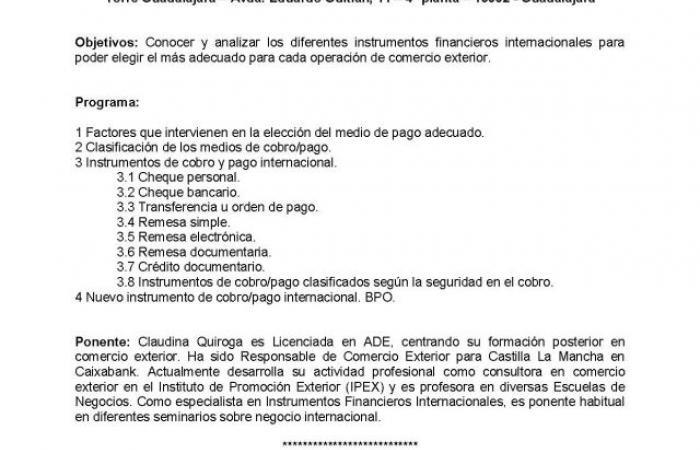 Jornada Comex: Instrumentos financieros internacionales