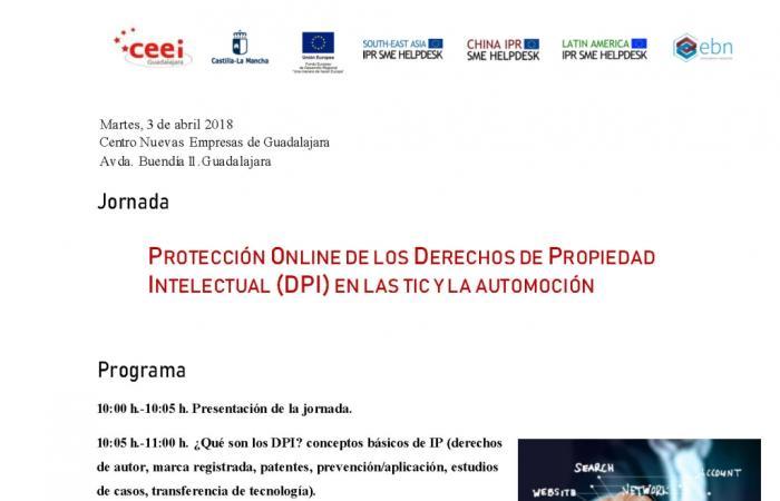 Jornada Protección online de los Derechos de Propiedad Intelectual (DPI) en las TIC y la Automoción¨