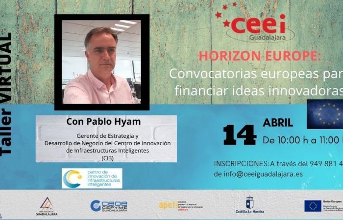 TALLER VIRTUAL HORIZON EUROPE: CONVOCATORIAS EUROPEAS PARA FINANCIAR IDEAS INNOVADORAS¨
